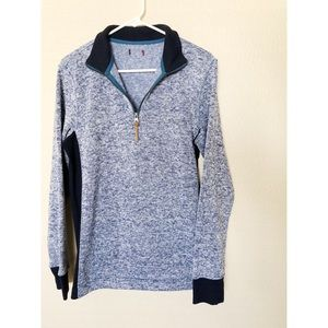 ✨Navy blue speckled half zip sweater✨